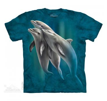 The Mountain T-Shirt Three Dolphins