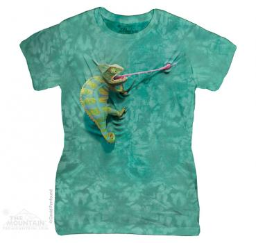 wildlife mountain the mountain batik climbing chameleon damen t shirt. Black Bedroom Furniture Sets. Home Design Ideas