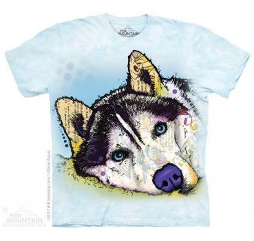 The Mountain Russo Siberian Husky T-Shirt