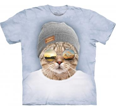 The Mountain Cool Hipster Cat T-Shirt
