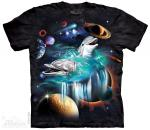 The Mountain T-Shirt Galaxy Dolphin