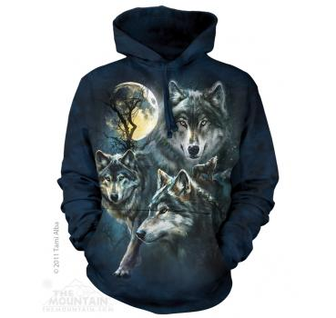 The Mountain Kapuzensweater Moon Wolves Collage Hoodie