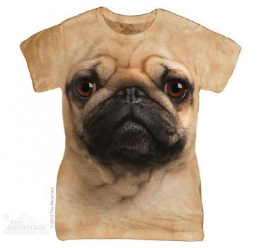The Mountain Batik Pug Face Damen T-Shirt