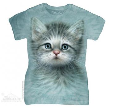 The Mountain Batik Blue Eyed Kitten Damen T-Shirt