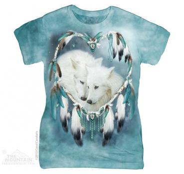 The Mountain Batik Wolfheart Damen T-Shirt