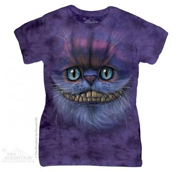 The Mountain Batik Big face Cheshire Cat Damen T-Shirt