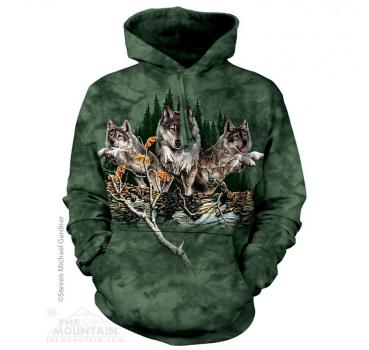 The Mountain Kapuzensweater Find 12 Wolves Hoodie