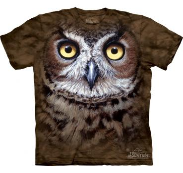 The Mountain T-Shirt Great Horned OWL Head