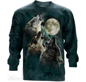 The Mountain Langarm T-Shirt Three Wolf Moon Classic