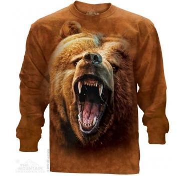 The Mountain Langarm T-Shirt Grizzly Growl