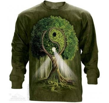 The Mountain Langarm T-Shirt Yin Yang Tree