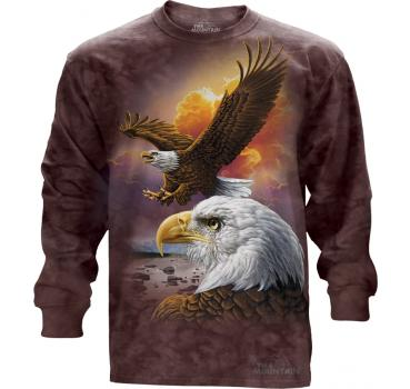 The Mountain Langarm T-Shirt Eagle & Clouds