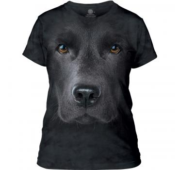 The Mountain Black Lab Face Damen T-Shirt