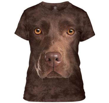 The Mountain Chocolate Lab Face Damen T-Shirt