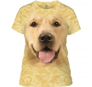 The Mountain Big Face Golden Damen T-Shirt