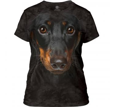 The Mountain Dachshund Face Damen T-Shirt