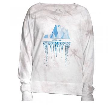 The Mountain Damen Crew Pullover Save Our Planet
