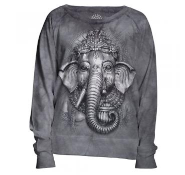 The Mountain Damen Crew Pullover Grey Ganesh