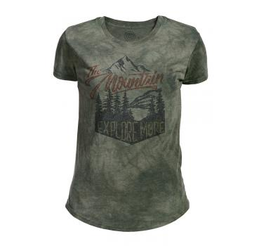 The Mountain Tri-Blend Damen T-Shirt Explore More