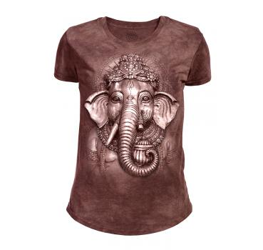 The Mountain Tri-Blend Damen T-Shirt Ganesh