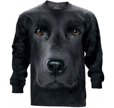 The Mountain Langarm T-Shirt Black Lab Face