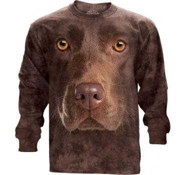 The Mountain Langarm T-Shirt Chocolate Lab Face