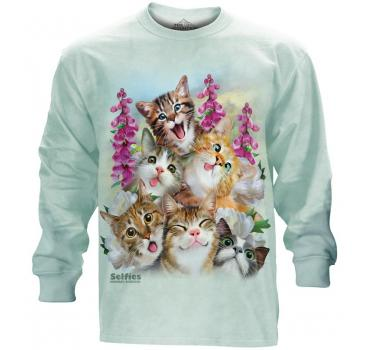 The Mountain Langarm T-Shirt Kittens Selfie