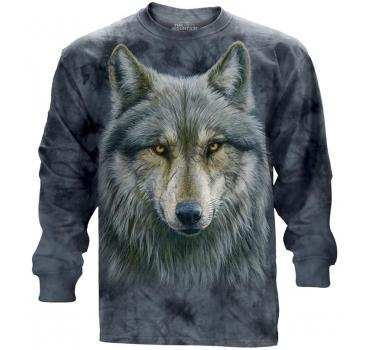 The Mountain Langarm T-Shirt Warrior Wolf