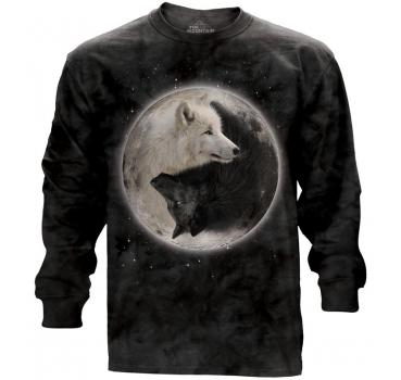 The Mountain Langarm T-Shirt Yin Yang Wolves