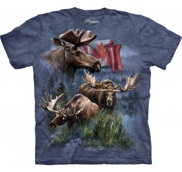 The Mountain T-Shirt Canadian Moose Collagel