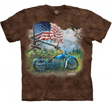 The Mountain T-Shirt Biker Americana