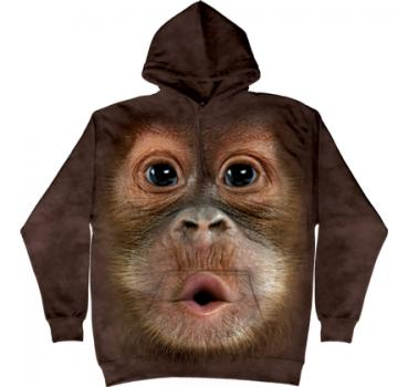 The Mountain Kapuzensweater Big Face Baby Orangutan Hoodie