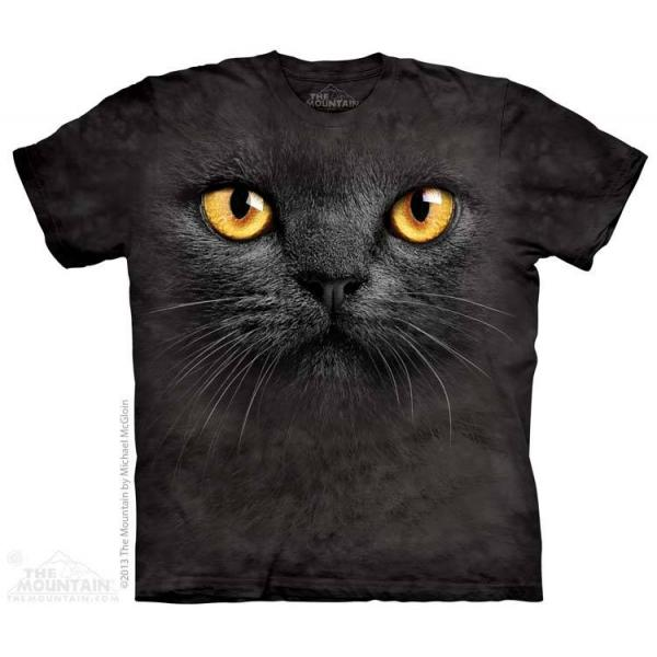 The Mountain T-Shirt Big Face Black Cat