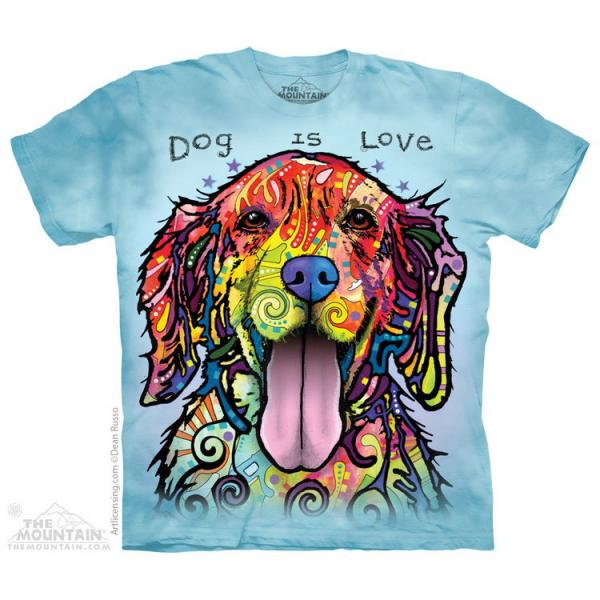 The Mountain T-Shirt Dog is Love