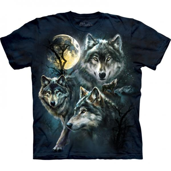 The Mountain T-Shirt Moon Wolves Collage